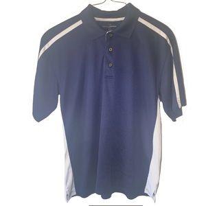 Grand Slam Blue White Polo Golf Shirt